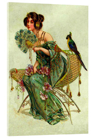 Acrylic print  The lady with the parrot