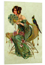 Foam board print  The lady with the parrot