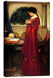 Canvas print  The crystal ball - John William Waterhouse