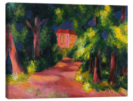 Canvas print  The red house at the park - August Macke