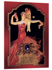 Foam board print  Dancing Couple, Arrow - Joseph Christian Leyendecker