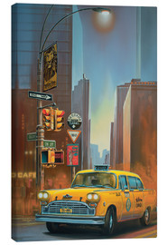 Canvas  Yellow Cab - Georg Huber