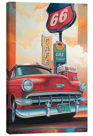 Canvas  Route 66 Cafe - Georg Huber