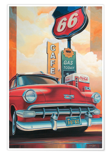 Route 66 Cafe Posters And Prints Posterlounge Co Uk