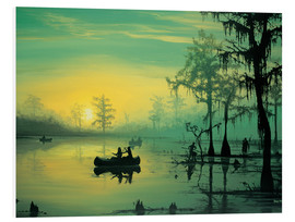 Foam board print  Mississippi Sunrise - Georg Huber