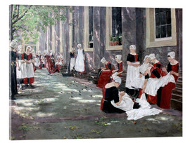 Acrylic print  Orphanage in Amsterdam - Max Liebermann