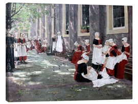 Canvas print  Orphanage in Amsterdam - Max Liebermann