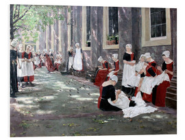 Foam board print  Orphanage in Amsterdam - Max Liebermann