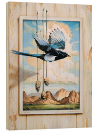 Wood print  FREE BIRD - Georg Huber
