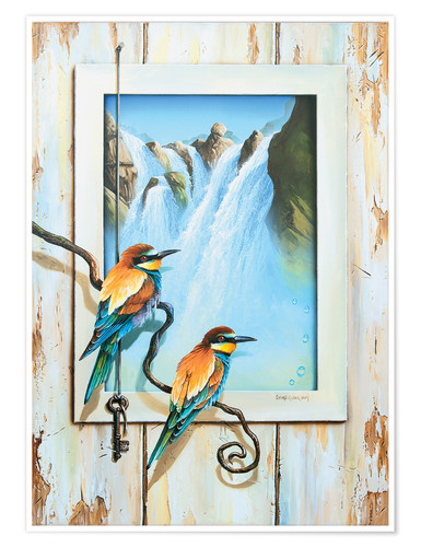 Premium poster BIRDS OF IMAGINATION