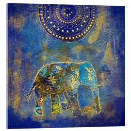 Acrylic glass  Blue Elephant - Andrea Haase