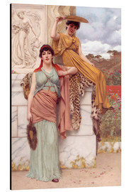 Alu-Dibond  Waiting for the procession - John William Godward