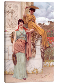 Canvas print  Waiting for the procession - John William Godward