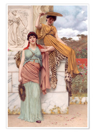Premium poster  Waiting for the procession - John William Godward