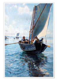Poster  Fishermen in a boat
