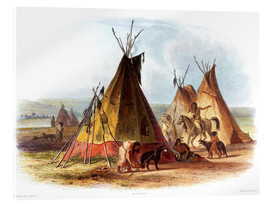 Acrylic print  Camp of Native Americans