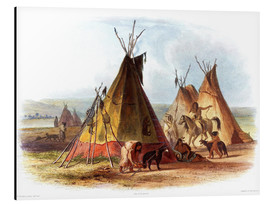 Aluminium print  Camp of Native Americans - Karl Bodmer