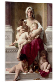 Foam board print  Charity - William Adolphe Bouguereau