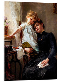 Acrylic glass  The little seamstress - Paul Hermann Wagner