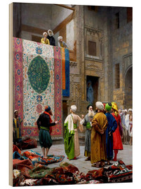 Wood print  Carpet dealer - Jean Leon Gerome