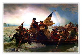 Premium poster  Washington Crossing the Delaware, 1851 - Emanuel Gottlieb Leutze