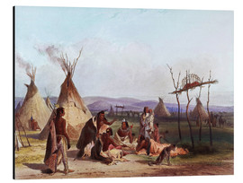 Alu-Dibond  Camp of Native Americans - Karl Bodmer