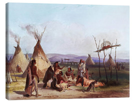 Canvas  Camp of Native Americans - Karl Bodmer