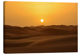 Canvas print  Sunset in the Erg Chebbi desert - HADYPHOTO by Hady Khandani