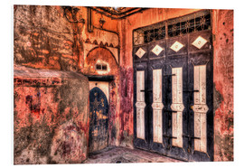 Foam board print  Old wooden doors in Marrakech - HADYPHOTO