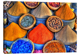 Canvas print  Colorful oriental spices on the bazaar in Marrakech - HADYPHOTO by Hady Khandani