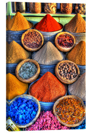 Canvas print  Colorful spices on the bazaar in Marrakech - HADYPHOTO by Hady Khandani