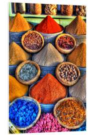 Foam board print  Colorful spices on the bazaar in Marrakech - HADYPHOTO by Hady Khandani