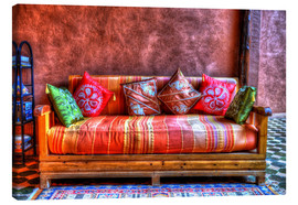 Canvas print  Oriental sofa in Tinghir, Morocco - HADYPHOTO