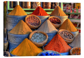 Canvas print  Oriental spices on the bazaar in Marrakech - HADYPHOTO by Hady Khandani