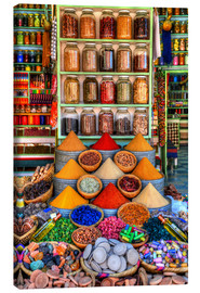 Canvas print  Spices on a bazaar in Marrakech - HADYPHOTO by Hady Khandani