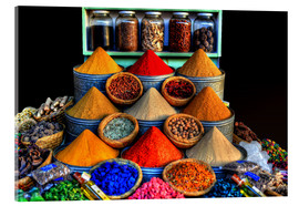 Acrylic glass  Oriental spices in Marrakech - HADYPHOTO by Hady Khandani