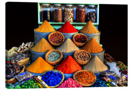 Canvas  Oriental spices in Marrakech - HADYPHOTO by Hady Khandani