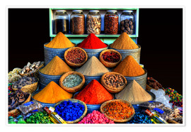 Poster Oriental spices in Marrakech