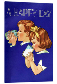 Acrylic print  With milk a lucky day begins - Advertising Collection