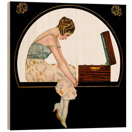 Wood print  The Music of Women - Clarence Coles Phillips