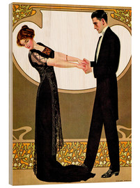 Wood print  The rendezvous - Clarence Coles Phillips
