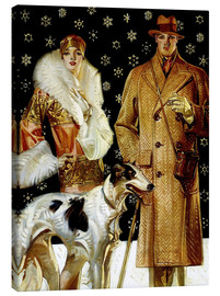 Canvas  Couple with a greyhound - Joseph Christian Leyendecker