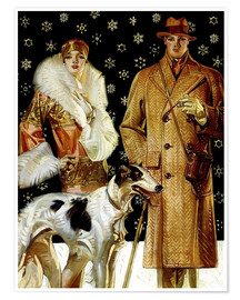 Premium poster  Couple with Greyhound - Joseph Christian Leyendecker