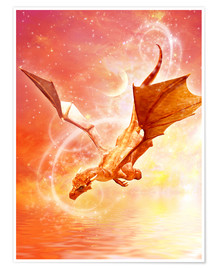 Poster  Dragon Flight - Dolphins DreamDesign