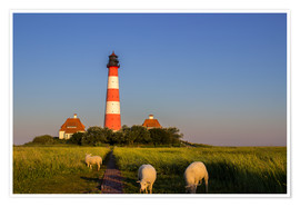 Premium poster  Lighthouse at Westerhever - Dennis Stracke