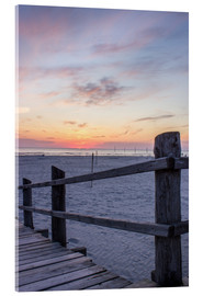 Acrylic print  Jetty into the sea from St Peter Ording - Dennis Stracke