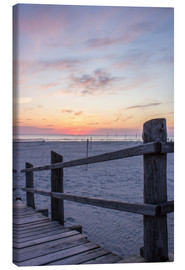 Canvas print  Jetty into the sea from St Peter Ording - Dennis Stracke