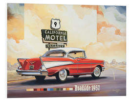 Foam board print  California Motel - Georg Huber