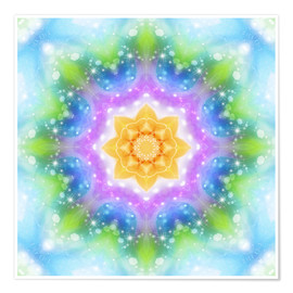 Premium poster  Mandala - New Ways - Dolphins DreamDesign