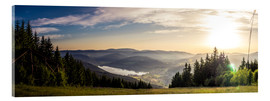 Acrylic print  Sunset at Titisee - Siegfried Heinrich